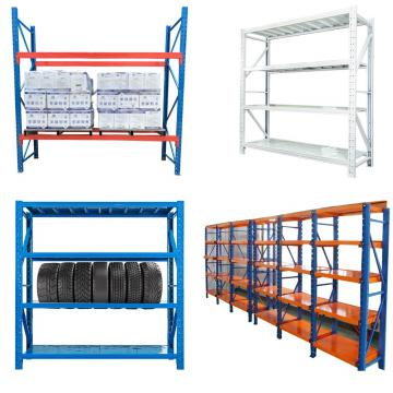 Household shelving system storage rack slotted angle iron shelving